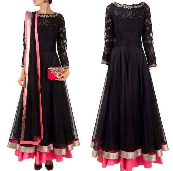 Replica of #nargisfakri black and pink anarkali suit. To order: WhatsApp at +91 9873433685 or mail us at glammrass@gmail.com #indianattire#sarees#glammrass#fashion#ethniccouture#bridal#suit#anarkali#exclusive#exquisite#lehengasaree#bride#bollywoodreplica#kurtis#designerwear#indianwear#dresses#gowns#ethnicwear#salwarkameez#georgette#indianwear#salwar#kameez#indiansuit#chanderi