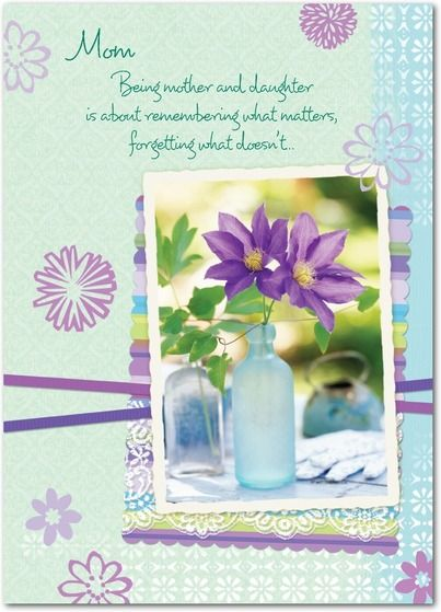 Selective Memory - Mother's Day Greeting Cards in Mint | Hallmark: Mint Green, Mothers, Hallmark, Greeting Cards, Selective Memory, Memories, Mother'S Day, Products