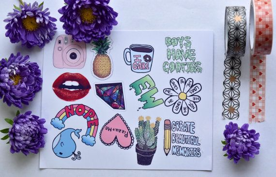 Tumblr stickers pack of 13 laptop sticker / by MarvellousStickers