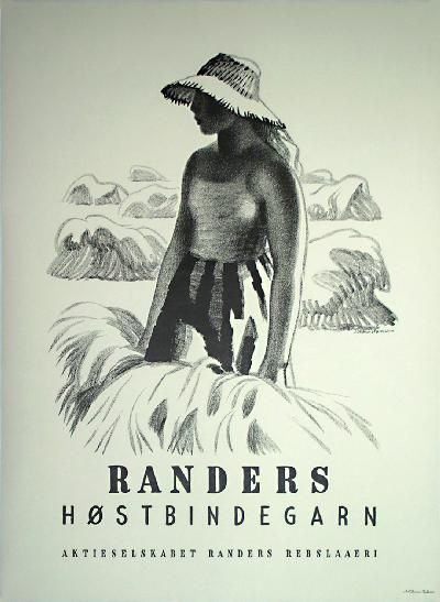 Poster: Randers H�stbindegarn Artist: Aage Sikker Hansen
