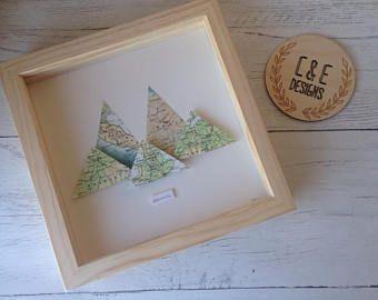 Adventure location map frame, Mountain Frame, Location Map, Wedding Gift, Map Gift, Travel, Adventure, Nursery Decor, Home Decor, Map Paper