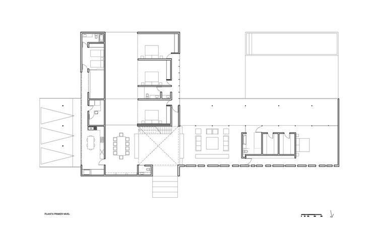 Gatica House,Plan