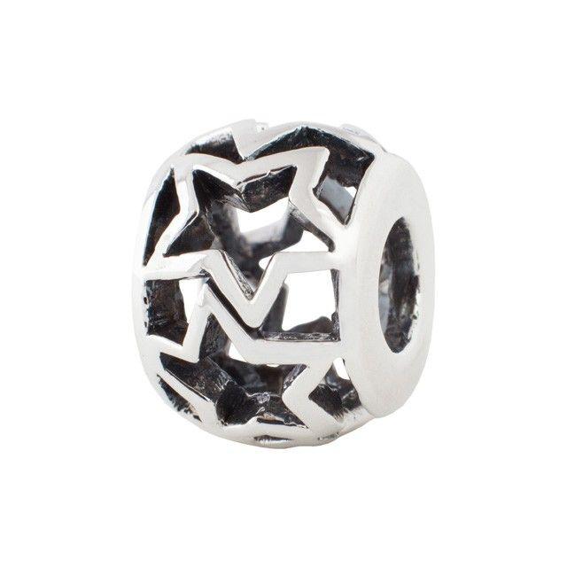 Контурные звезды - Шармы для браслетов - Серебряные наборные браслеты SunMoon