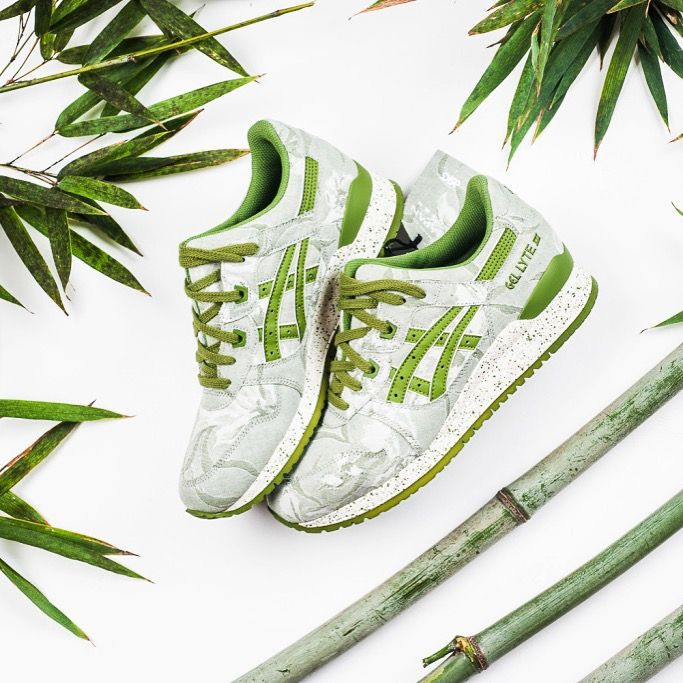 "Asics Gel Lyte III ""Japanese Textile Bamboo"" - released on the beginning of April, 2016 #asics #asicstiger #gellyteiii #hypebeast #thedropdate #nicekicks #sneakerfiles #japan #bamboo #sneakers"