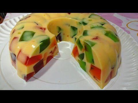 como hacer, GELATINA DE MOSAICO, Receta #98, recetas de postres, gelatinas - YouTube