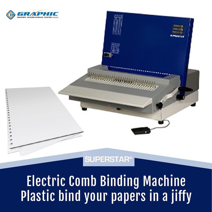 10 The Electric Comb Binding Machine Saves You Time And Allows You To Work Almost Handsfree Designed And Developed For Binding Machines Workshop Electricity