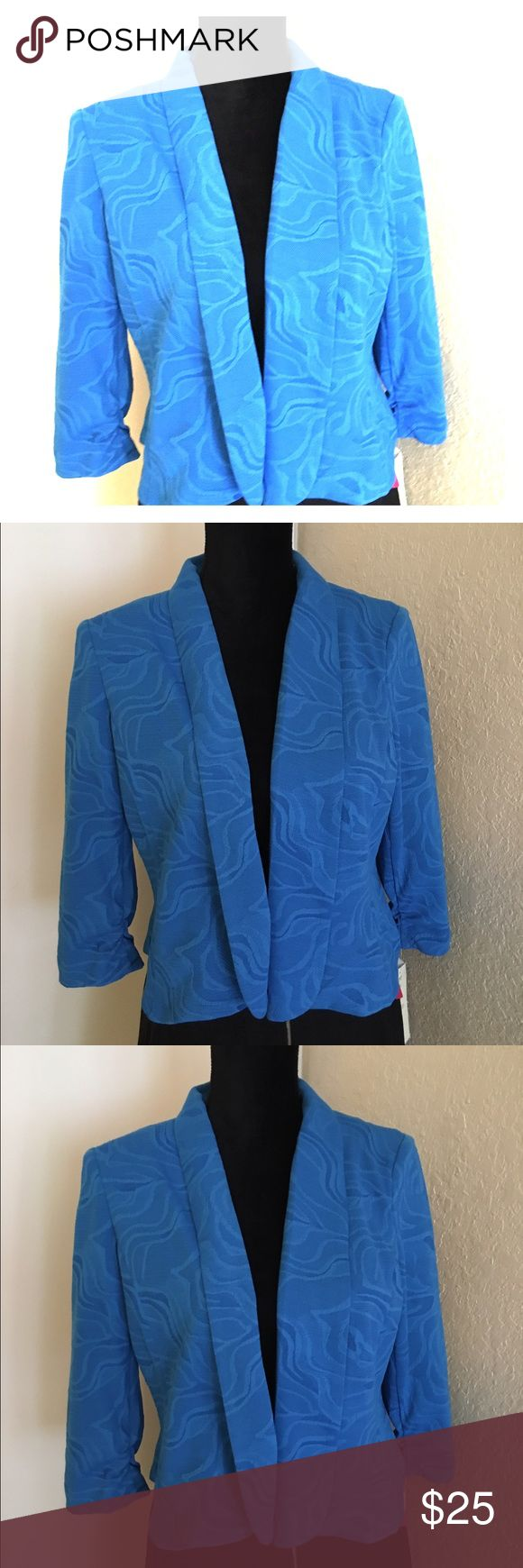 Stylish Blazer Beautiful Aqua Blazer. Fashionable and trendy. Blazer does not have any buttons. It's a fashion Blazer to throw over a light shirt or Blouse. Jackets & Coats Blazers