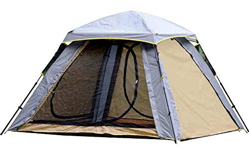 Generic Durable Layer Camping 6 Person Tent Color Grey -- You can find more details by visiting the image link.
