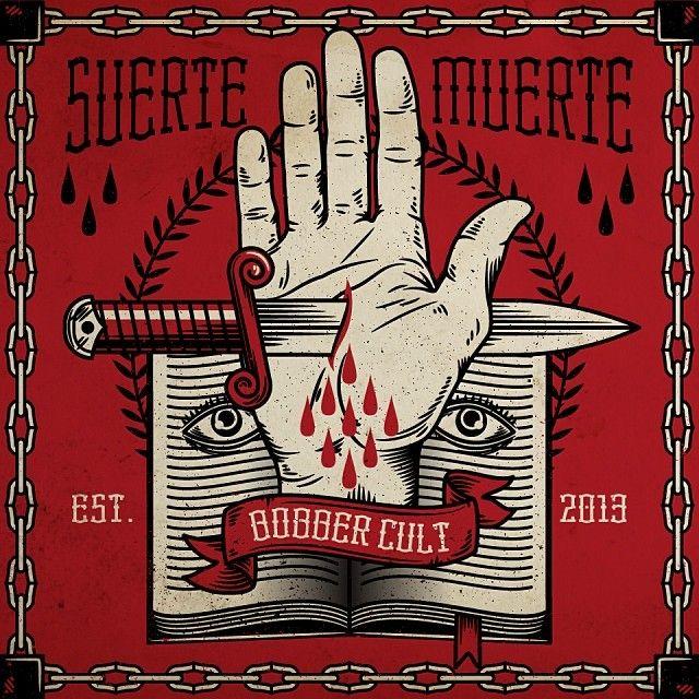 """305 curtidas, 4 comentários - Bobber Cult (@bobbercult) no Instagram: """"Suerte o muerte. #traditional #hand #luckybastard"""""""