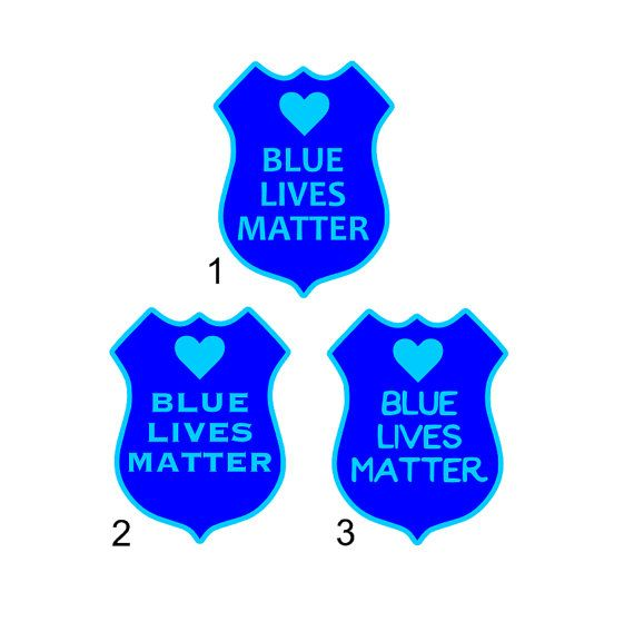 Blue Lives Matter Blue Lives Matter Car Decal by CameoandCompany