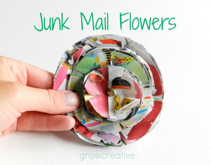 Grow Creative: Junk Mail Flowers Tutorial - Elise Engh and Grow Creative