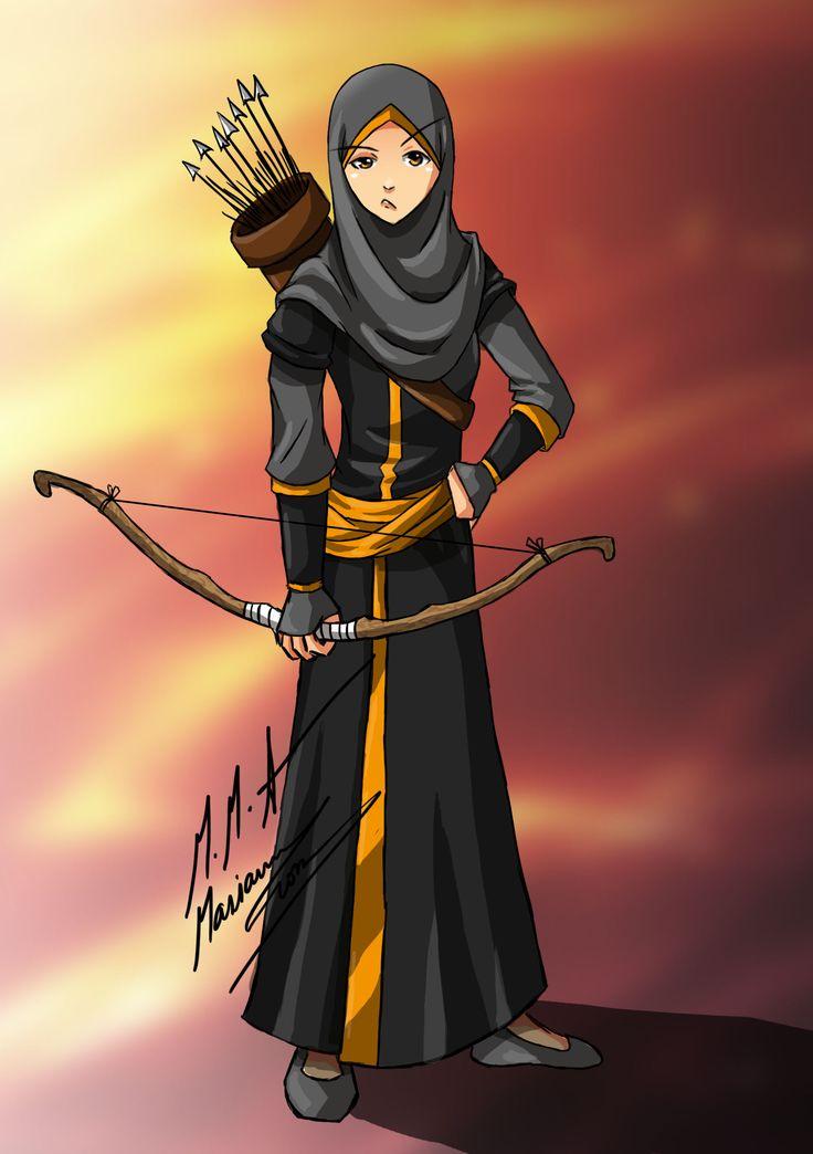 muslimah_archer__d_by_madimar-d6nqgg0.jpg (1748×2480)