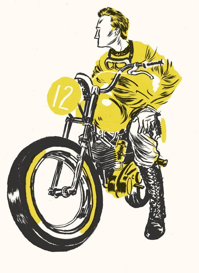 http://drewshannon.ca/: Drew Shannon, Cafe D, Shannon Illustrations, Motorcycles Illustrations, Illustrations Design, Http Drewshannon Ca, Cafe K-Cup, Caferacerpas Com, Cafe Racers