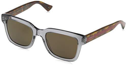 1156e41d0eb1 Gucci GG0001S 005 (Transparent Grey Havana with Brown lenses ...