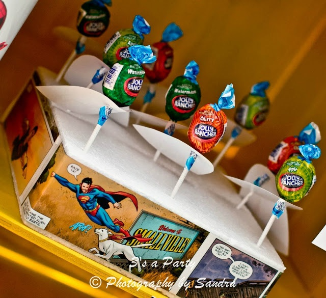 Little Big Company | The Blog: Superheroes and Clark Kent to the Rescue, A fun Superheroes party by 3's A Party Candy Buffet and Party Supplies