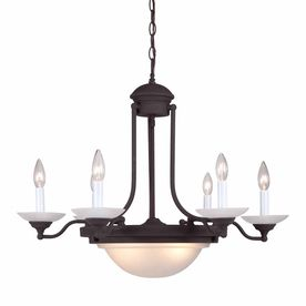 Volume International 28-In 8-Light Antique Bronze Mediterranean Candle Chandelier V2078-79