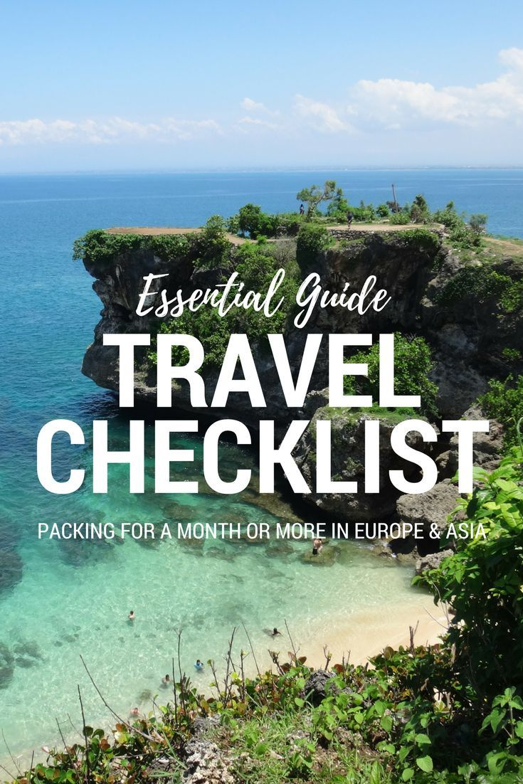 What to pack for a month or more in Europe and SE Asia.