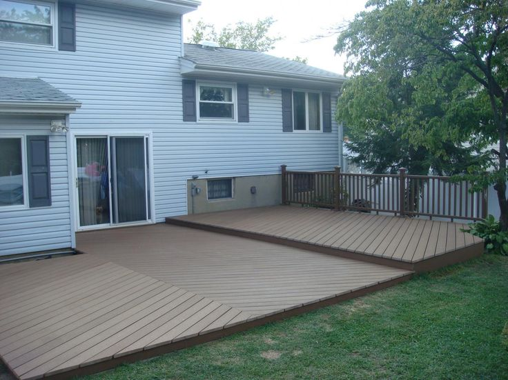 ground level deck - basic idea for floor of deck, add in bench seating and pergola