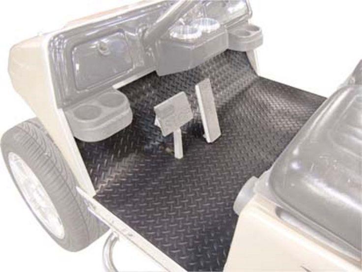 Details About Ezgo Txt Golf Cart 2001 5 2009 5 Floor Mat Rubber Black Diamond Plate 1 Piece