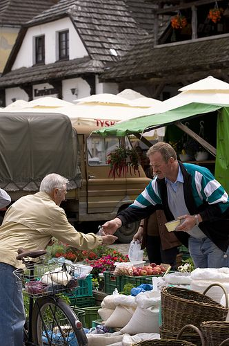 Farmer market on Marketplace, Kazimierz Dolny, Poland