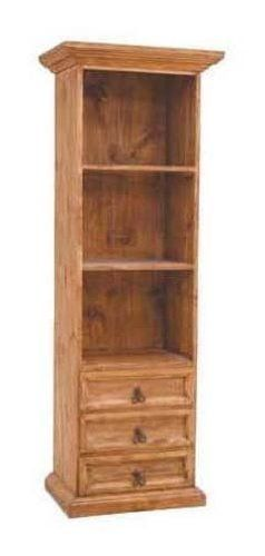 "Small Bookcase with Drawers (Brown) (71.00""H x 25.00""W x 18.00""D) by Million Dollar Rustic Furniture. $497.99. The Small Bookcase with Drawers is a perfect option for organizing your living room, office or bedroom! This wood bookcase's classic style will complement most existing decor. A sturdy solid wood construction makes this a very sturdy piece of furniture. This bookcase features three lower drawers and two shelves for useful storage. Assembly level/degree of difficult..."