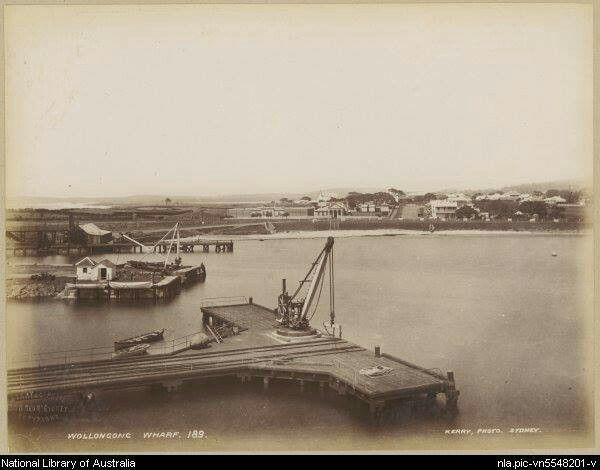 Wollongong Harbour in the south coast of New South Wales in the 1880s. •National Library of Australia•