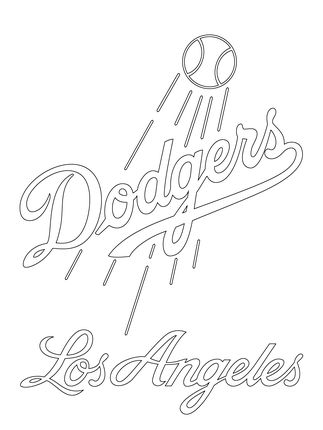 Click to see printable version of Los Angeles Dodgers Logo  coloring page