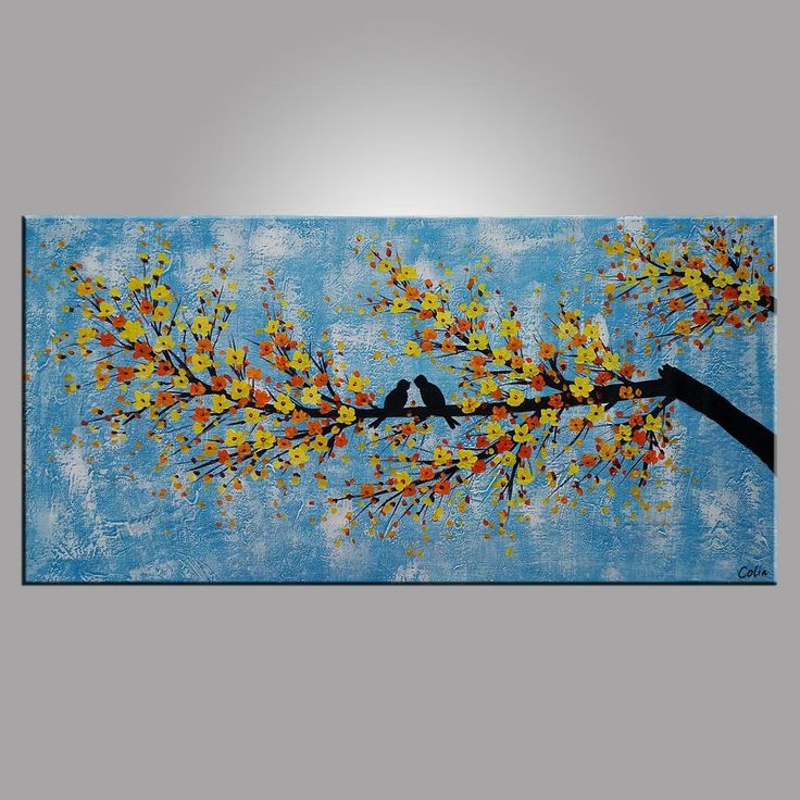 Abstract Art Love, Love Birds Painting, Bedroom Wall Art ...