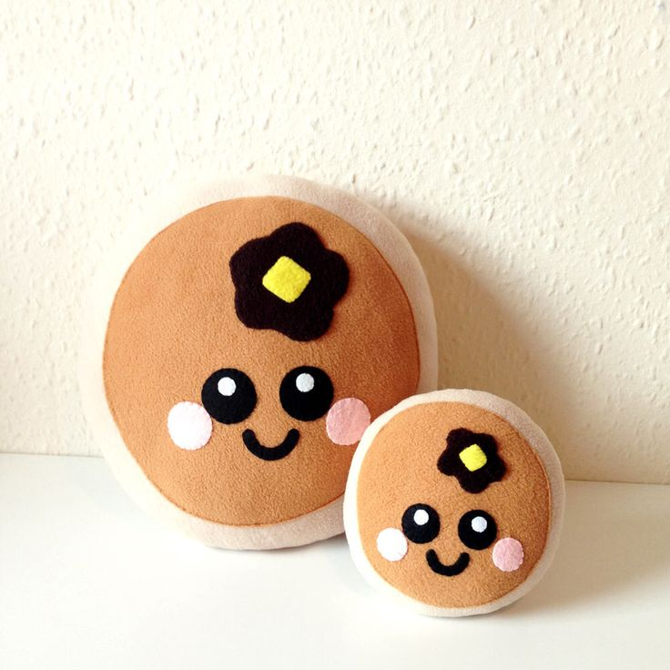 Cute Pancake Plush Cushion by LittleMissDelicious on Etsy