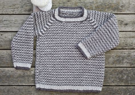 Strik | Strik en fin drengesweater i perlestrik
