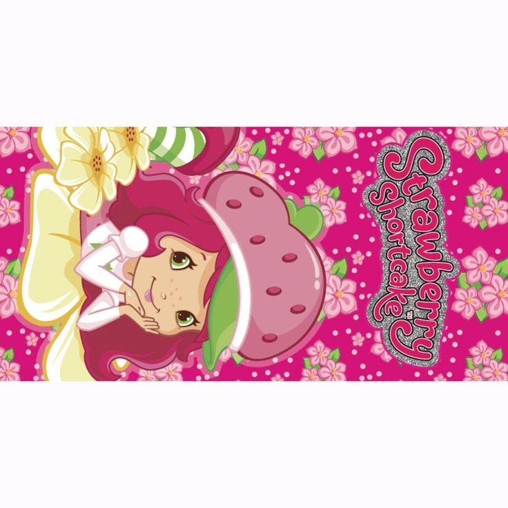 Strawberry Shortcake Girl Printing 70*140cm Bamboo Fiber Bath Beach Towel Drying Washcloth Swimwear Shower Gym Campin Big Towels