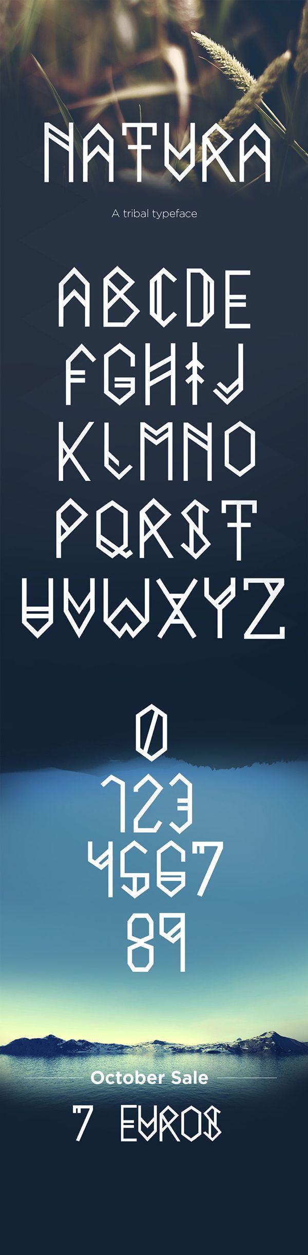 Natura typeface on Behance