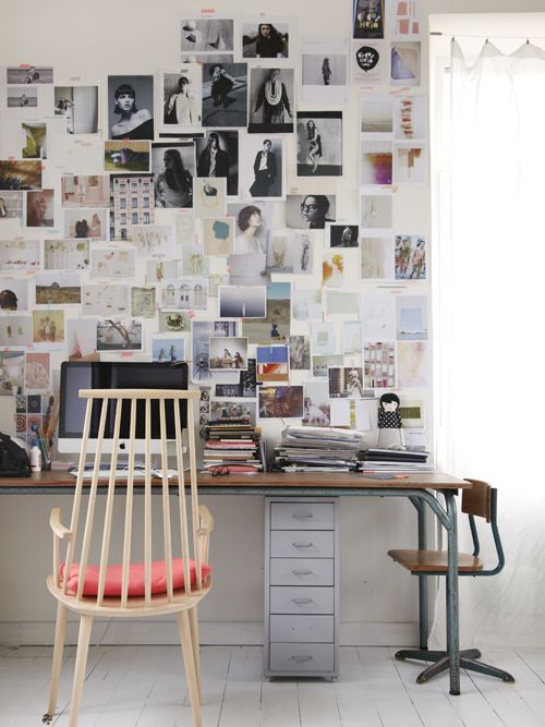 Home office inspiration wall.
