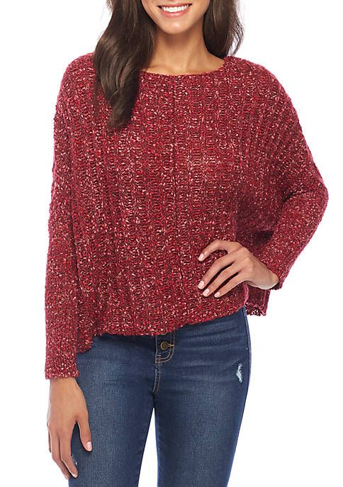 1afe3cf092f Wonderly Dolman Sleeve Knit Pullover Sweater