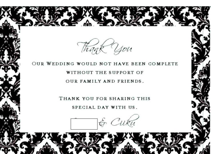The 25 best wedding thank you wording ideas on pinterest thank thank you for the gift card wording wedding junglespirit Image collections
