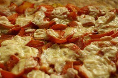 zapečené cuketa s rajčaty