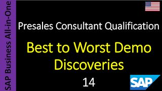 SAP - Course Free Online: 14 - Best to Worst Demo Discoveries