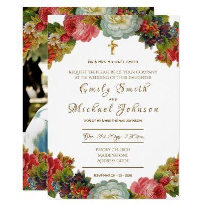 Catholic Wedding Invitation Add Photo Formal Wedding
