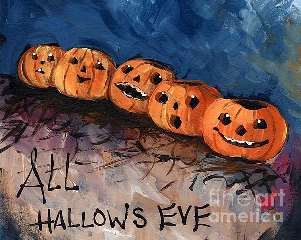 All Hallows Eve By Follow Themoonart Hallows Eve Halloween Acrilic Paintings