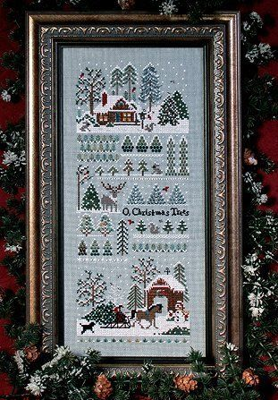 """Jingle Bell Tree Farm"" by Victorias Secret cross stitch pattern"