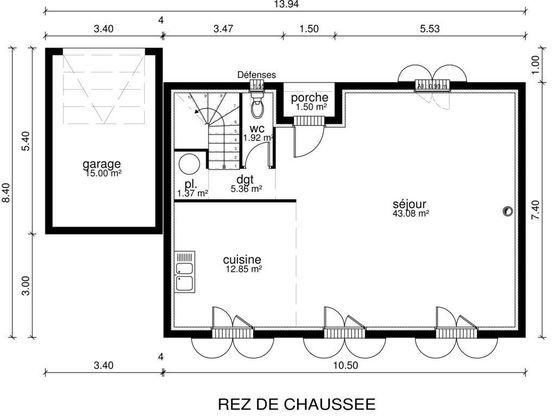 11 best 2017-2018 images on Pinterest House floor plans, House - plan maison r 1 gratuit
