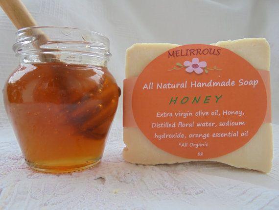 Honey Soap Soap of Honey Extra Virgin Olive by MelirrousBees
