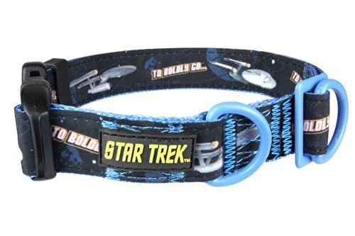 Star Trek Dog Collar Enterprise Small - Boldly go where no other dog has gone before
