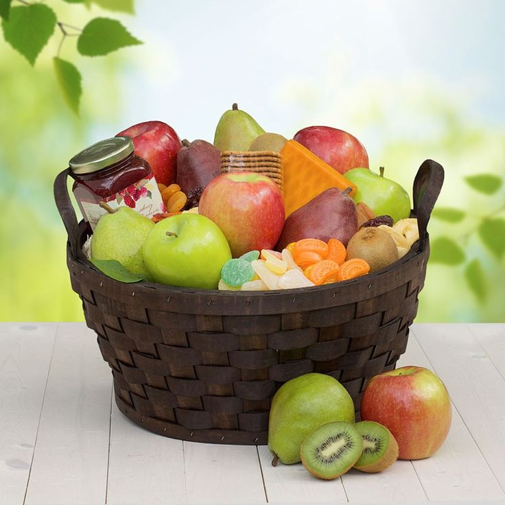 Columbia Harvest Fruit Basket - The Fruit Company's Columbia Harvest Fruit Basket is delivered direct from our orchards with harvest fresh fruit and gourmet treats.