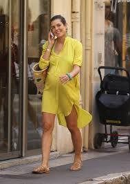 CHARLOTTE CASIRAGHI pregnant and sunny