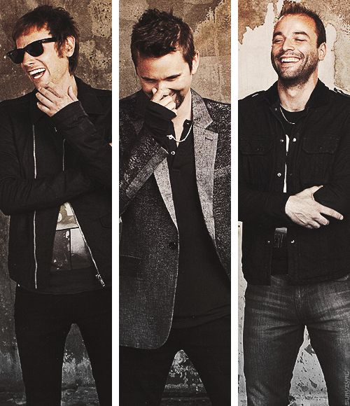 Dominic Howard, Matthew Bellamy & Christopher Wolstenholme   #Muse
