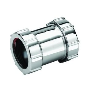 Wickes 40mm Chrome Pipe Connector