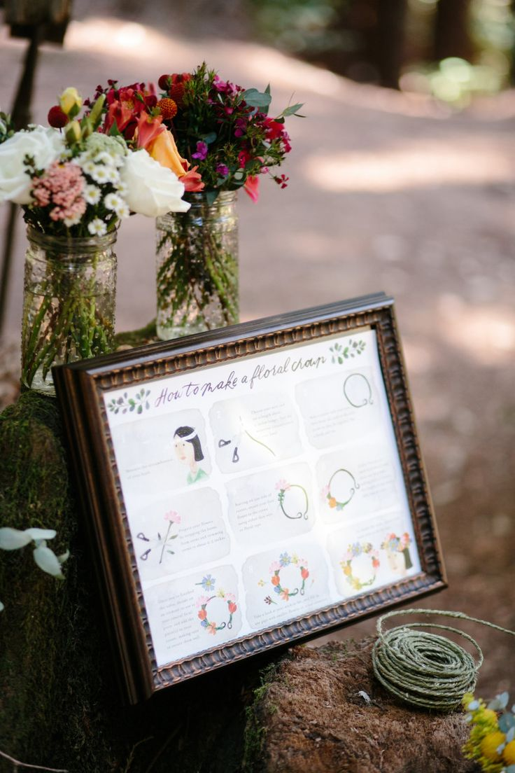 This Make Your Own Flower Crown Station Is Pure Wedding Genius | A Practical Wedding