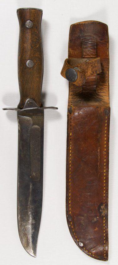 World War Ii Era Mexican Artillery Bowie Knife Together