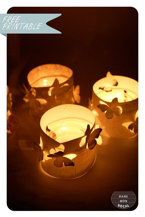DIY butterfly candleholders : tutorial + free template